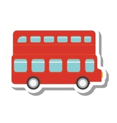 london bus transport service icon vector image