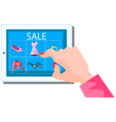 shopping online concept vector image