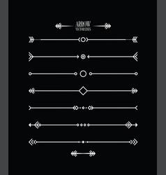 abstract arrow line set vector image vector image