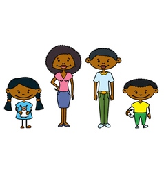 African-american family vector