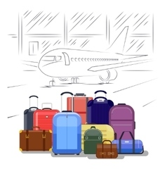 Airport luggage People travel vector image vector image