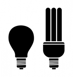 bulb and CFL vector image vector image