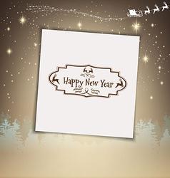 Christmas congratulatory background vector image