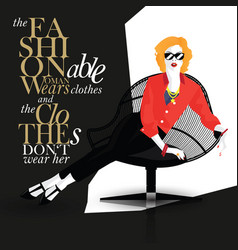 Fashion quote with fashion woman vector