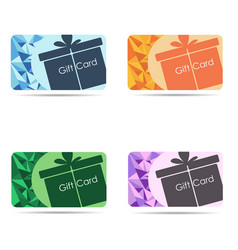 gift cards set isolated on white background vector image vector image