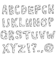hand drawn spotted alphabet vector image vector image