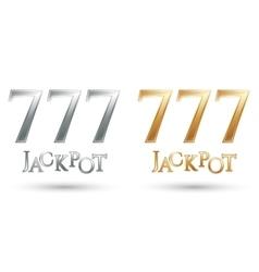 Lucky sevens jackpot vector image