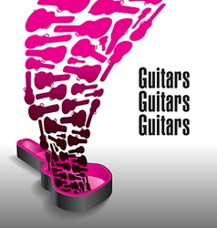 Never enough guitars vector image vector image