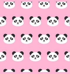 panda heads seamless pattern vector image