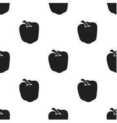 pepper icon black singe vegetables icon from the vector image vector image