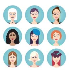 set of women characters vector image