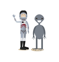 space people concept flat vector image vector image