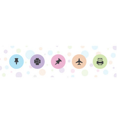 5 solid icons vector