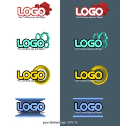 Abstract 3d logo set collection vector image