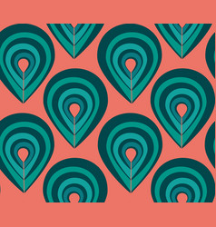 Abstract pattern with peacock feathers elements vector