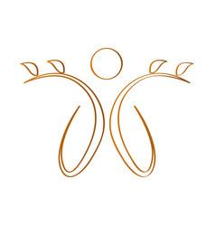 abstract spa logo vector image