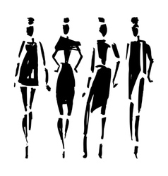 Beautiful Woman silhouette vector image