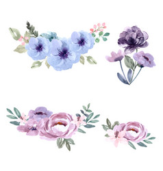 Bouquet icon for unique cover decoration exotic vector