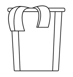 Box dirt clothes icon outline style vector