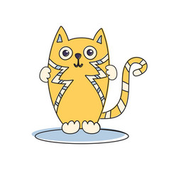 Cat cute funny vector