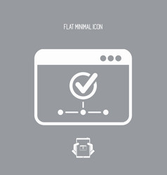 Check network - flat minimal icon vector