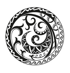 Circular composition of the ornaments in the style vector