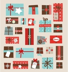 collection colorful christmas present vector image