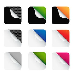 Colorful Corners vector image