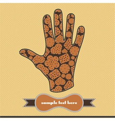 composition with cookies on the handprint vector image