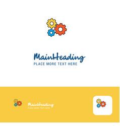 creative gear setting logo design flat color logo vector image