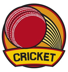 cricket symbol cricket label vector image