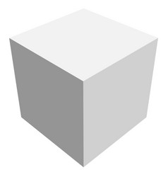 cube icon with perspective - 3d model of a cube vector image