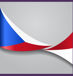 Czech wavy flag vector
