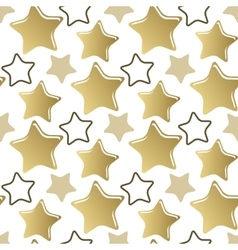Decorative seamless pattern gold stars vector