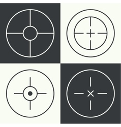 different types crosshair vector image