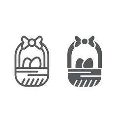 easter basket line and glyph icon easter and vector image
