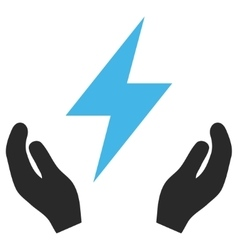 Electricity Maintenance Hands Eps Icon vector