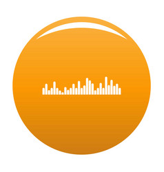 Equalizer vibration icon orange vector