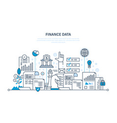 finance statistical data security of payment vector image