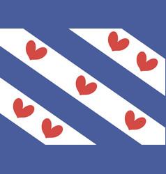 friesland flag vector image