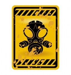 Gas mask warning sign vector