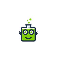 glasses science lab logo icon design vector image