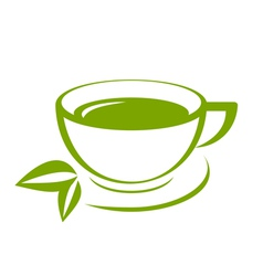 Green tea icon vector