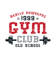 gym club emblem vector image
