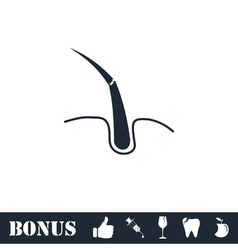 Hair bulb icon flat vector image