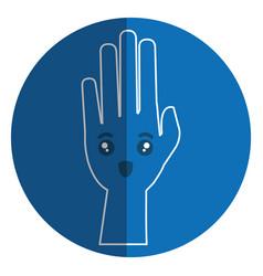 hand human raised comic character vector image