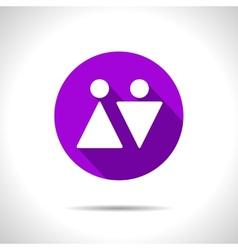 heterosexual couple icon Eps10 vector image