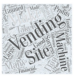 How To Make Money From Vending Sites Word Cloud vector