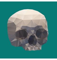 Human skull in a triangular style vector