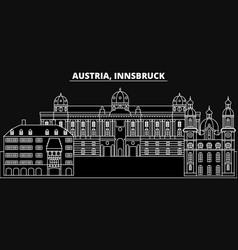 Innsbruck silhouette skyline austria - innsbruck vector